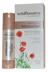 Wildflowerssensitive-Pelle-Crema-Idratante-Mattifying-50ml-Rosso-Papavero-e-Te-Verde