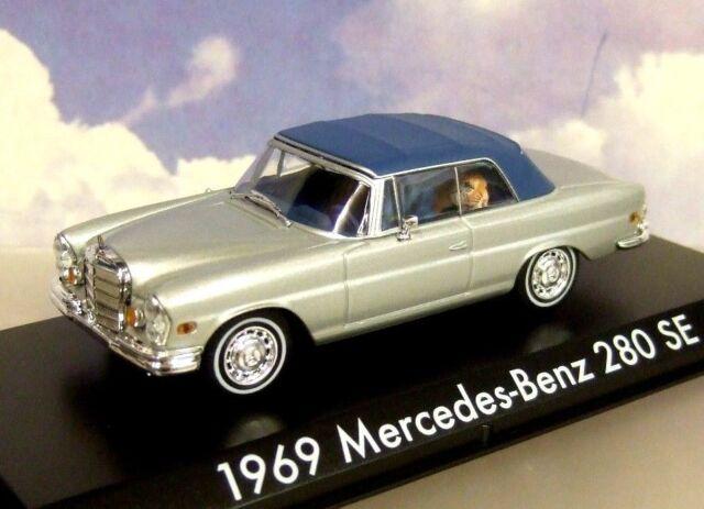 Greenlight 1/43 1969 Mercedes-Benz 280 Se Plata Cerradas con Tigre ! la Resaca