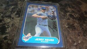 1986-FLEER-JERRY-REUSS-AUTOGRAPHED-BASEBALL-CARD