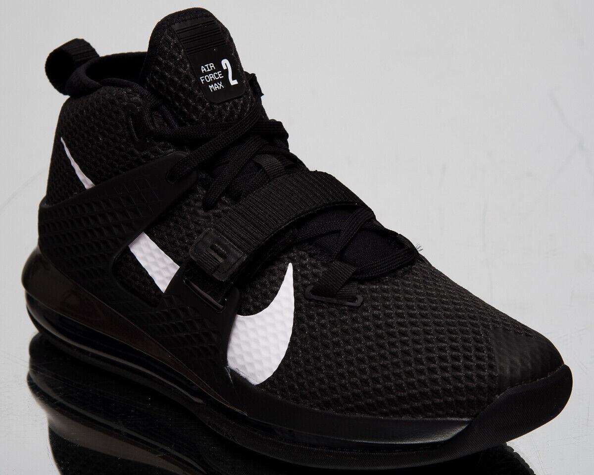 Nike Air Force Max II Herren Schwarz Weiß Basketballschuhe Turnschuhe