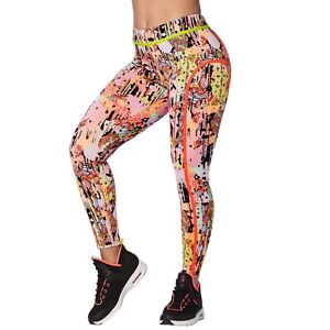 daad067c4d66d Image is loading Zumba-Dream-Piped-Ankle-Leggings-Coral-Craze-Z1B00678