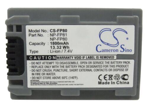 Batería Li-ion Para Sony Dcr-hc85 Dcr-hc39e Dcr-hc42e Dcr-hc44e Dcr-hc46 dcr-dvd2