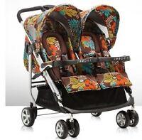 Zooper 2011 Tango Twin Stroller In Jungle Earth