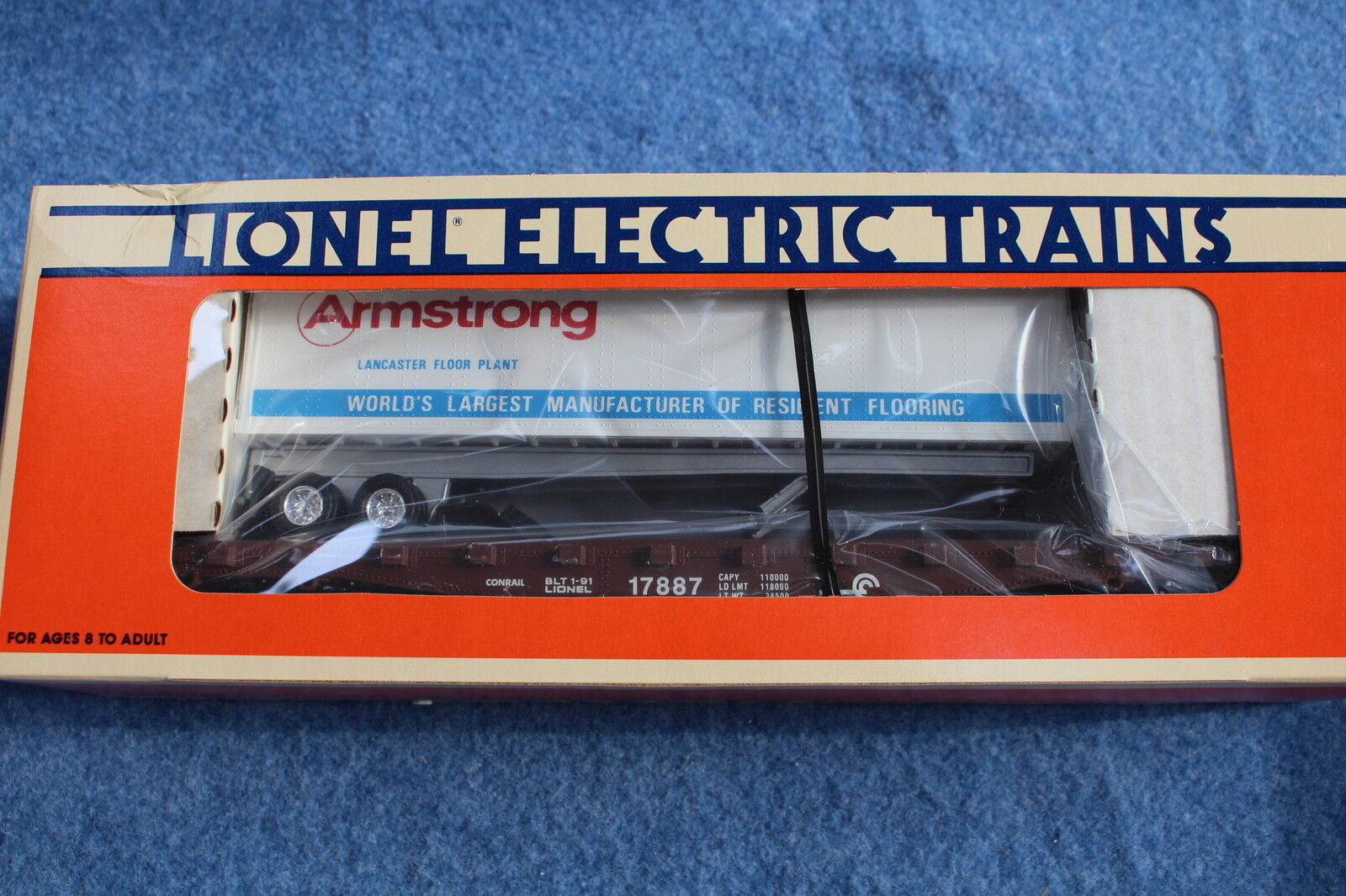 1991 Lionel 6-17887 Armstrong Flooring Trailer & Flatbed LCCA Car L2614