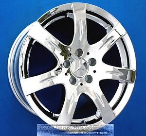 Mercedes e320 e350 e420 e430 e500 16 inch chrome wheels for Chrome rims for mercedes benz