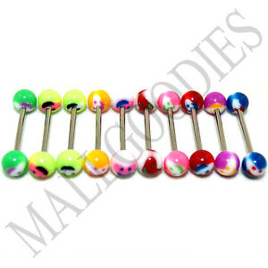 W026-Acrylic-Tongue-Rings-Barbells-Happy-Smiley-LOT-10