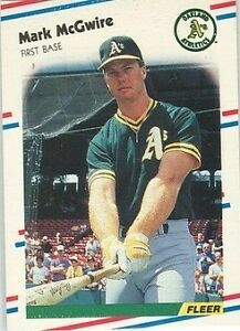 1988 Fleer Mark Mcgwire 286 Baseball Card