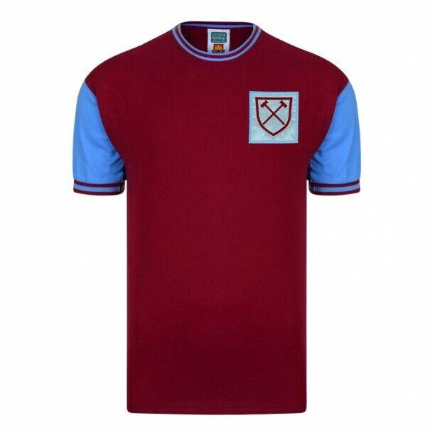 Score Draw Rétro West Ham United 1966 No. 6 Bobby Moore Calcio Camicia nuovo