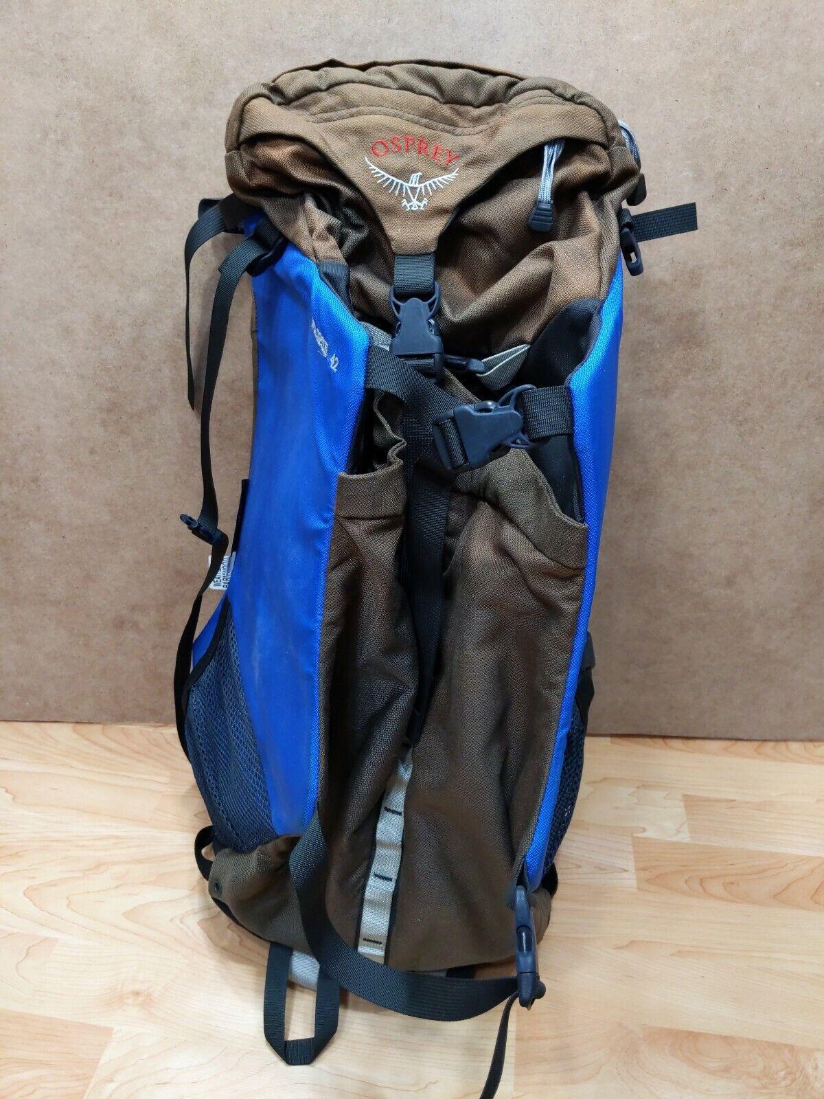 Osprey Eclipse 42 Hire Internal Frame Backpack Rucksack Diuominiione gree GUC