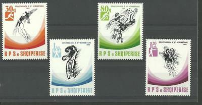 Stamps Original Albania Albanien Albanie 1989 The National Spartakiade Minr 2415-2418 Mnh** Pleasant In After-Taste Europe