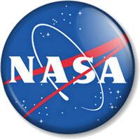 """NASA 25mm 1"""" Pin Button Badge Novelty Geek Nerd Space Astronaut Sci fi Apollo"""