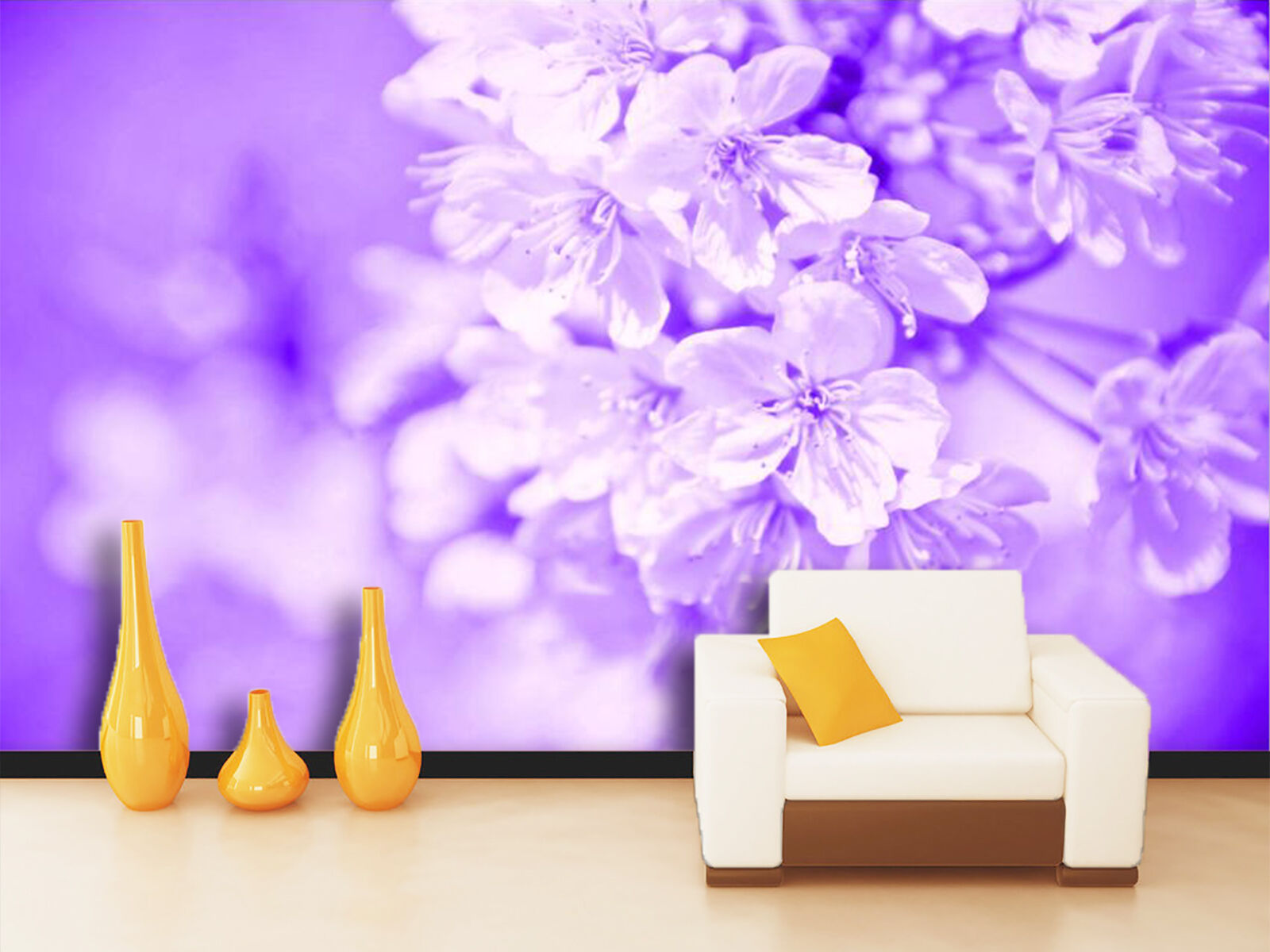 3D Purple flowers 6588 Wall Paper Print Wall Decal Deco Indoor Wall Murals