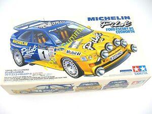 Discontinued-Tamiya-1-24-FORD-ESCORT-RS-COSWORTH-Michelin-Rally-Car-KIi-24153