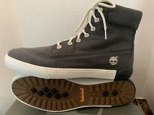 Details about TIMBERLAND MEN'S NEWPORT BAY THREAD BLACK CANVAS SNEAKERS 13