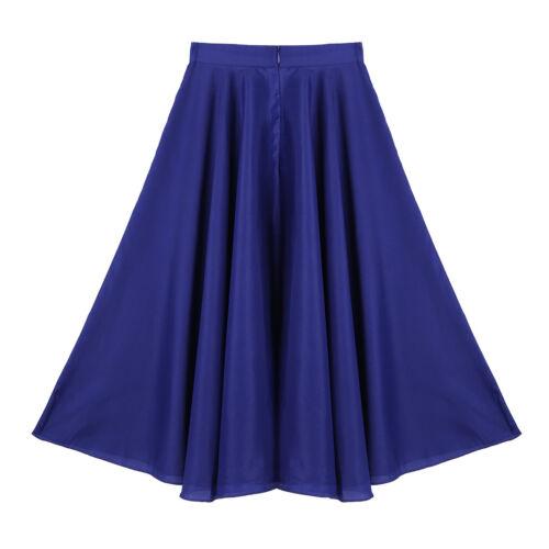 Kid Girls Long Liturgical Maxi Skirt Full Circle Dress Praise Spirit Dancewear
