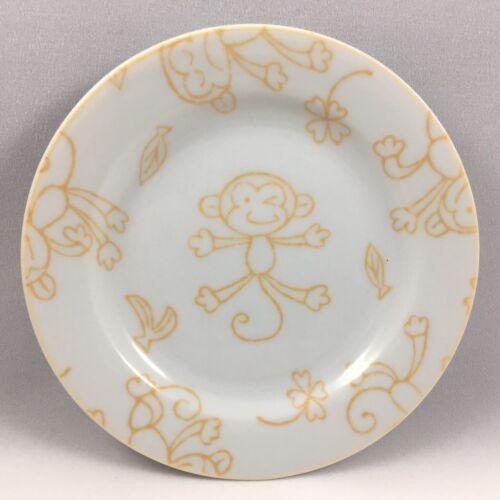 "Japanese 4.75/""D Porcelain Small Dessert Appetizer Snack Dish Plate Monkey 2 PCS"
