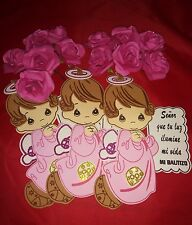 10PC- Baby Girl Baptism Foams: Baby Shower Decoration (Decoracion para Bautizo)