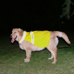 Breathable-High-Visibility-Dog-Vest-Jacket-Safety-Dog-Coat-Hi-Vis-Viz-Lightgreen