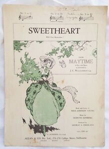 Sweetheart Will you Remember, 'Maytime', JC Williamson 1917, Rida Johnson Young