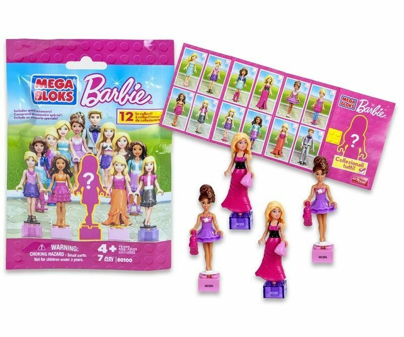 MEGA BLOKS BARBIE 80100 12 TO COLLECT MINI FIGURES