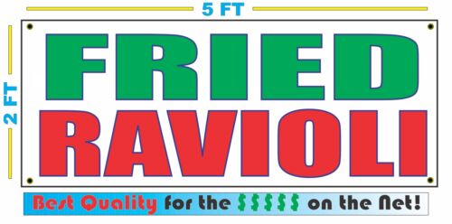 FRIED RAVIOLI Banner Sign NEW Larger Size Best Quality for The $$$ Fair Food