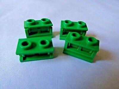 COMPLETE ASSEMBLY LEGO PART 3937C01 1 x 2 BLACK HINGE BRICK x 4