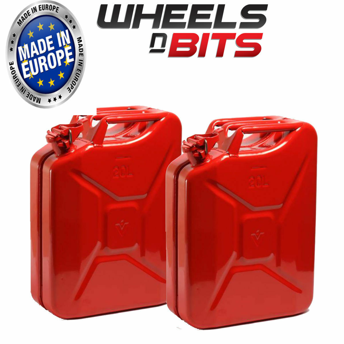 2 x 20L Litre Red Jerry Military Can Fuel Oil Water Petrol Diesel Red Green