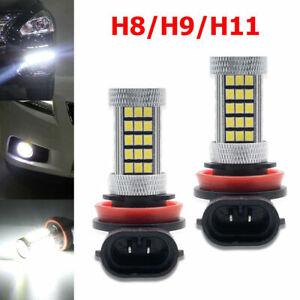 BEST-1-Pair-H11-H8-66SMDs-LED-White-Fog-Light-Bulbs-Decoder-Error-Free-Canbus