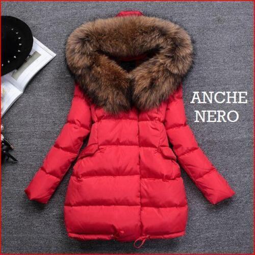 manteau de femme duvet d'hiver mode parka manteau Fourrure veste rembourré k482 en Y4qzxEw