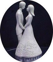 Wedding Cake Topper 25 Anniversary Figurine love Is One Heart Shared By Two