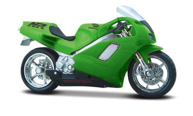 HONDA nr. VERDE Modellino Moto Maisto 1:18 PRESSOFUSO MOTOCICLETTA MODELLO