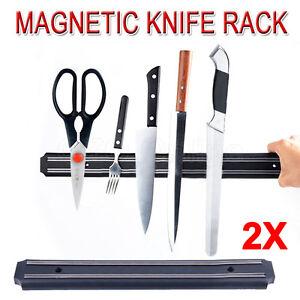 2X-Magnet-Wall-Mount-Knife-Holder-Utensil-Magnetic-Shelf-Rack-Kitchen-Tool-NEW