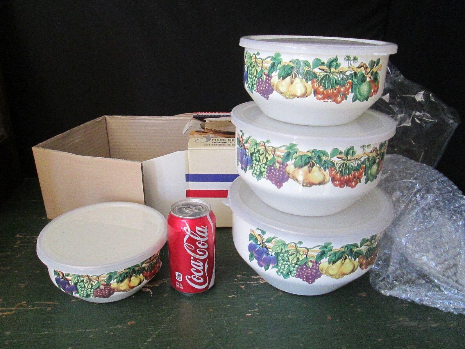 Philippe Richard Collection 8pc Deep Mixing Bowl Set Orig Box Kensington Garden