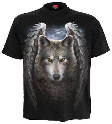 SPIRAL DIRECT LYCOS WINGS T-Shirt,Tattoo/Wild/Angel/Wolf/Biker/Goth/Howls/Top