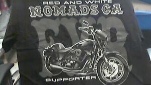 Details about Hells Angels California Red and White Nomads supporter  t-shirt MED