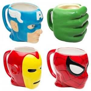 Marvel-Los-Vengadores-De-Ceramica-3D-Taza-Oficial-Spiderman-Hulk-Iron-Man-Capitan-America