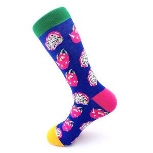 d1797fbfca9 Fashion Men Women Socks Funny Combed Cotton Animal Fruit Bird Casual Happy  Socks