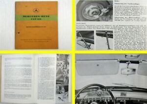 Mercedes-Benz-Typ-219-W105-Ponton-Betriebsanleitung-Bedienungsanleitung-1956