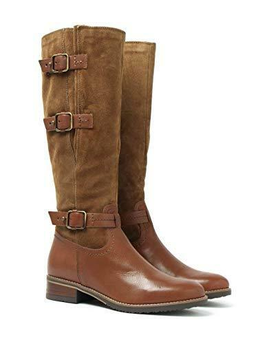 Clarks Tamro Marina Brown Tan Leather Ladies riding boots size 4 37 D New