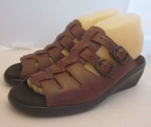 SAS-Women-s-Size-7-S-Tripad-Comfort-Sandals-Slides-Brown-Leather-Made-in-the-USA