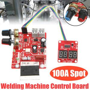 100A-Spot-Welding-Machine-Time-Current-Controller-Control-Panel-Board-Module-Red
