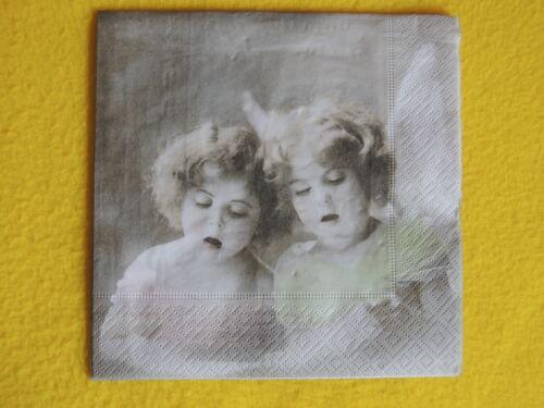 4 Servietten Engeln SINGEN Angels Serviettentechnik Sagen Vintage 1//4 Mädchen