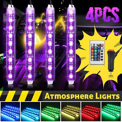 Glow Full Color LED Interior Car Lamp Kit Under Dash Foot Seat Inside Lighting