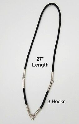 Black Rope Thai Amulet Necklace with Stainless steel Hook for Buddha Pendant