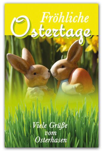 50//100 Grußkarten Ostern Osterhase Ostereier Osterkarten Umschläge 130-3578