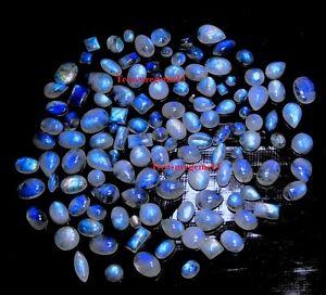 150Crt-WHOLESALE-LOT-NATURAL-BLUE-MOONSTONE-CALIBRATED-MIX-CABOCHON-HOT-GEMSTONE