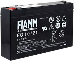 FIAMM FG10721 BATTERIA AL PIOMBO RICARICABILE 6V 7,2AH FASTON ORIGINALE