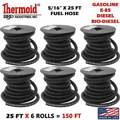"Thermoid Gasoline Fuel Line Hose E-85 Diesel Bio Diesel Compatible 1//4/"" X 6 Ft"