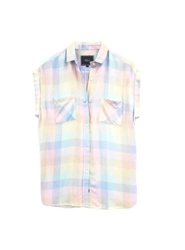 RAILS Britt - Sherbet Rainbow Check Shirt (Sleeveless)