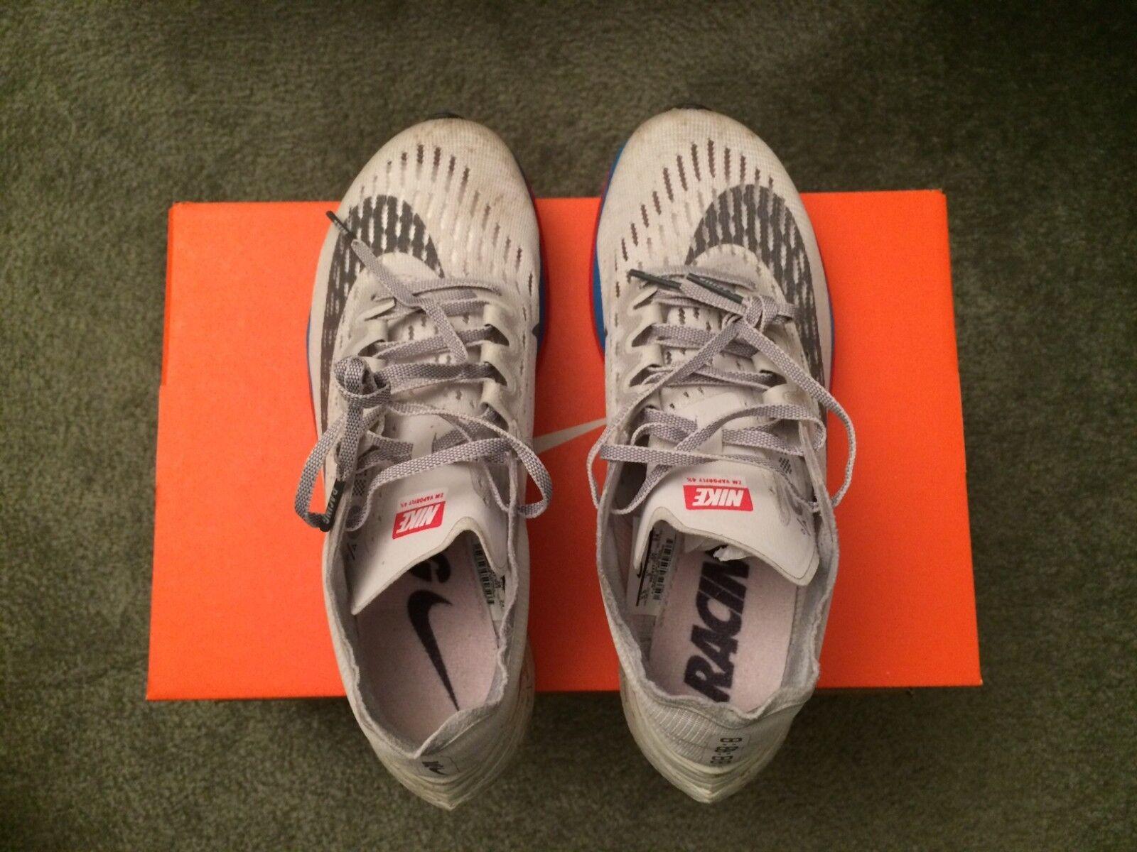 Nike Zoom Vaporfly 4% Grey bluee Unisex shoes Size Men's 5.5 Women's 7 880847-004